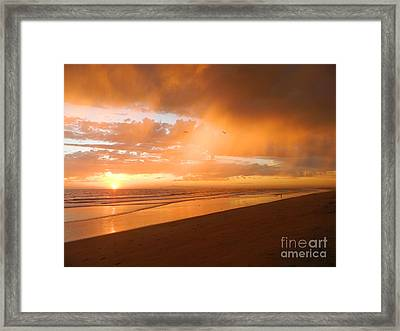 Framed Print featuring the photograph Bolsa Chica Sunset by Everette McMahan jr