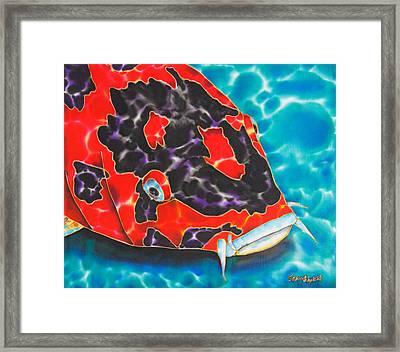 Bolt Koi Framed Print by Daniel Jean-Baptiste