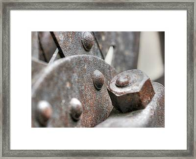 Bolts Framed Print by Stellina Giannitsi