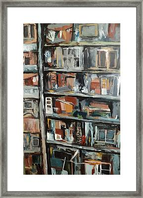 Bombed Beirut Building Framed Print by Shelli Finch