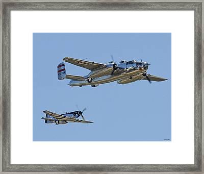 Bomber Escort Framed Print