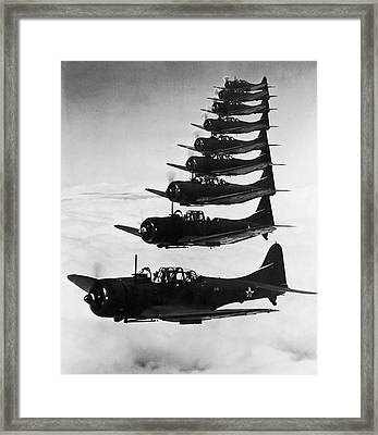 Bombers In Flight Framed Print by Archive Photos