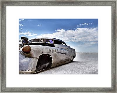 Bombshell Buick Bonneville 2012 Framed Print by Holly Martin
