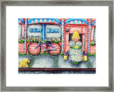 Bon Bon Betty Framed Print by Alison  Galvan
