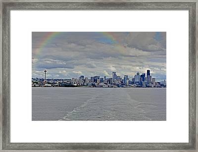 Bon Voyage Seattle Framed Print