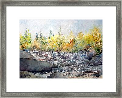 Bond Falls Up Mi Framed Print