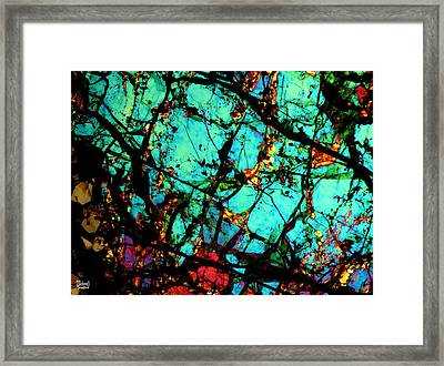 Bondac Meteorite Nwa 657 Framed Print