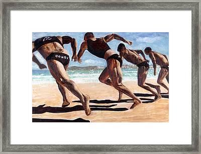 Bondi Boys Framed Print