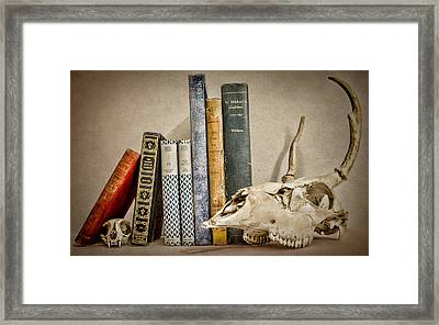 Bone Collector Library Framed Print by Heather Applegate
