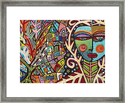 -bone Tree Of Life Skeleton Goddess Framed Print