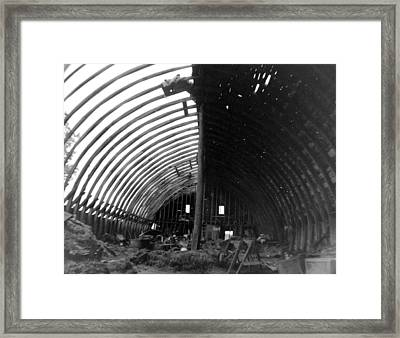 Bones Of The Barn Framed Print by Artist Orange