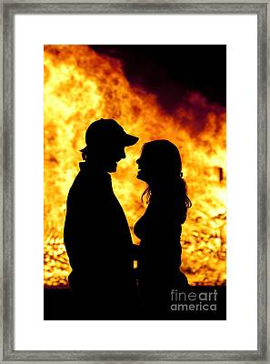 Bonfire Framed Print by David  Rusch