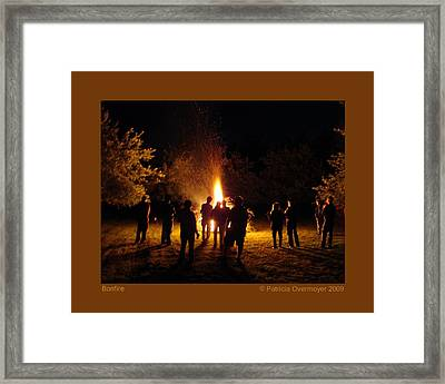 Framed Print featuring the photograph Bonfire by Patricia Overmoyer