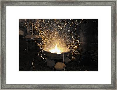 Bonfire Framed Print by Sumit Mehndiratta