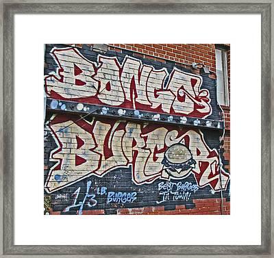 Bongo Burger Framed Print by Samuel Sheats