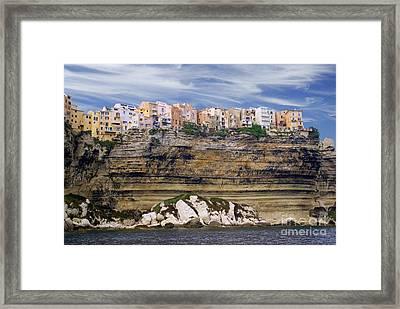 Bonifacio From The Sea Framed Print by Rod Jones