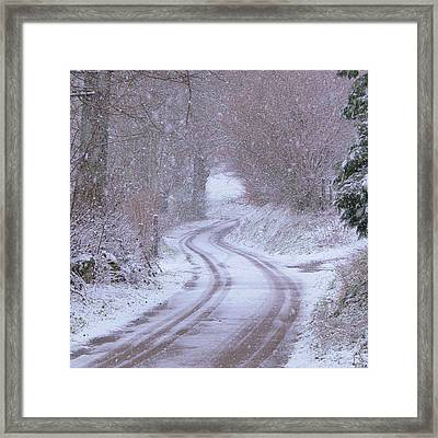 Bonjean In The Snow Framed Print