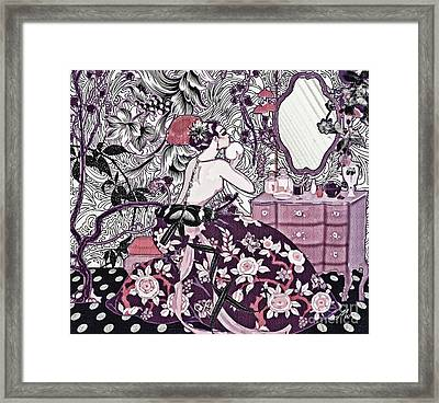 Bonjour Madame Framed Print by Mo T