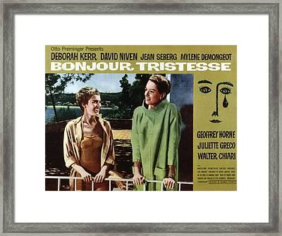 Bonjour Tristesse, Jean Seberg, Deborah Framed Print