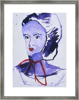 Bonnet Framed Print by Iris Gill