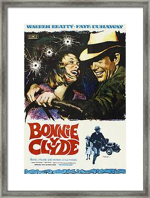Bonnie And Clyde, Faye Dunaway, Warren Framed Print