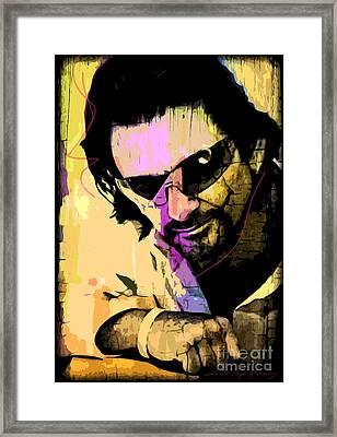 Bono Framed Print by David Lloyd Glover