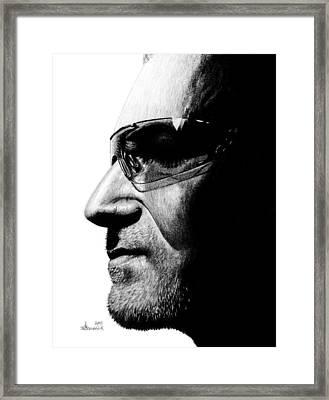 Bono - Half The Man Framed Print by Kayleigh Semeniuk
