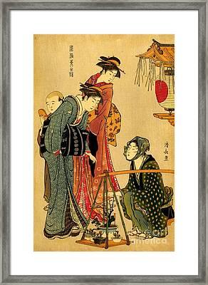 Bonsai Seller 1800 Framed Print