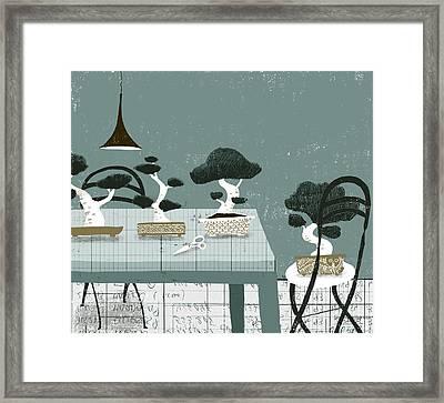 Bonsais Framed Print