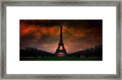 Bonsoir Paris Framed Print by Chris Lord