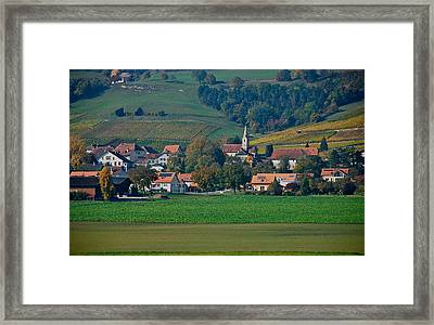 Framed Print featuring the photograph Bonvillars by Eric Tressler