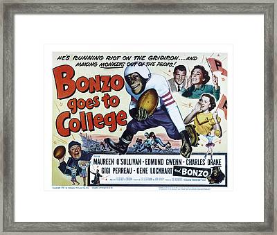 Bonzo Goes To College, Edmund Gwenn Framed Print by Everett
