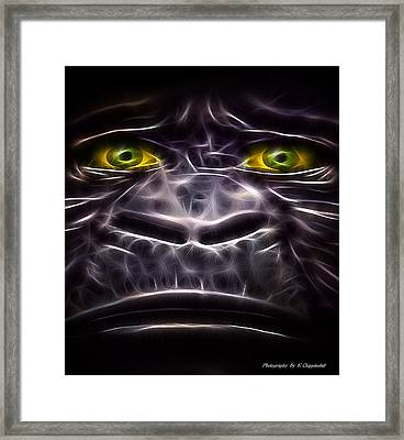 Framed Print featuring the digital art Boo Boo 02 by Kevin Chippindall