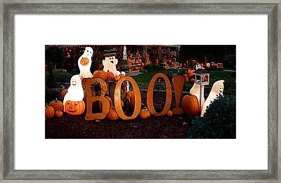 Framed Print featuring the photograph BOO by Nick Kloepping