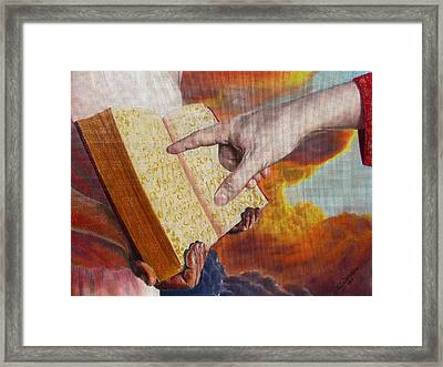 Book Of Life Framed Print by Yulia Litvinova