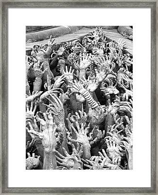 Book Of The Living Dead Framed Print by Roy Foos