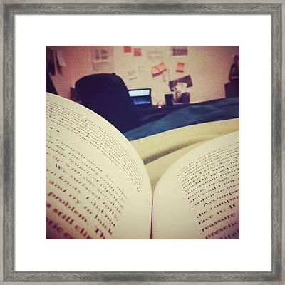 #book #reading Framed Print