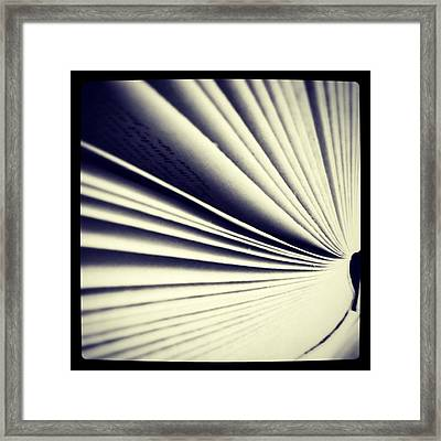 #book #reading #pages #photooftheday Framed Print by Ritchie Garrod