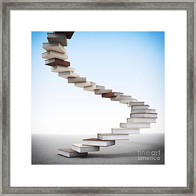 Book Stair Framed Print by Gualtiero Boffi