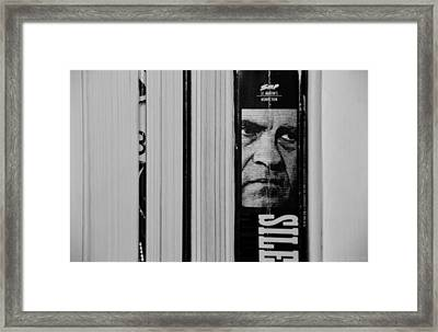 Book Time With Tricky Dick In Black And White Framed Print