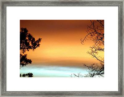 Bookend Silhouettes Framed Print by Will Borden