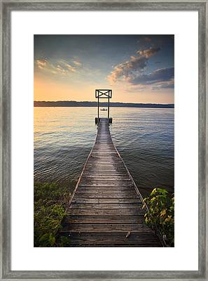 Booker T Dock 2 Framed Print by Steven Llorca