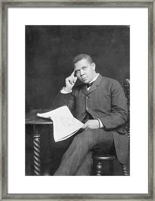Booker T. Washington 1856-1915, African Framed Print