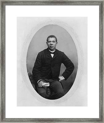 Booker T. Washington 1856-1915,  Ca Framed Print by Everett