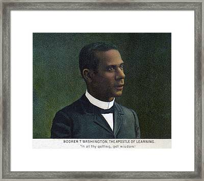 Booker T. Washington, Detail Framed Print by Everett