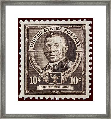 Booker T Washington Postage Stamp Framed Print