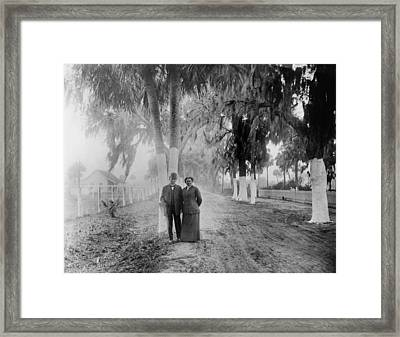 Booker T. Washington With Fellow Framed Print by Everett
