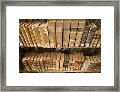 Books At Nilgiri Hills Library, Ooty Framed Print by Michael Melford