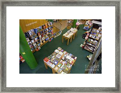 Books On Display Framed Print