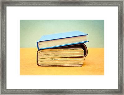 Books Framed Print by Tom Gowanlock